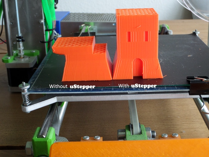 uStepper removes layer shifting in 3D prints
