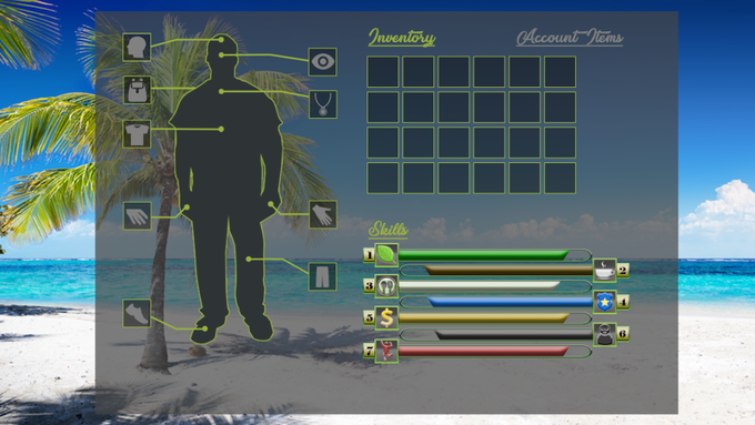 An early concept design of the Inventory user interface.