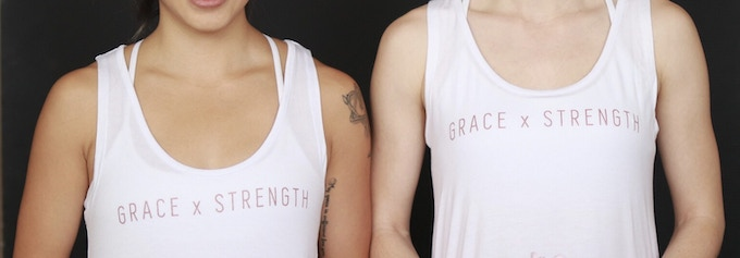 Singlet with Rose Gold Words