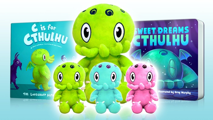 Our cutest and snuggliest elder gods yet! A new line of Cthulhu plushies to accompany our beloved Lovecraft-inspired children's books!