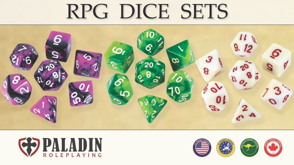 Beautiful Polyhedral RPG Dice Sets by Paladin Roleplaying