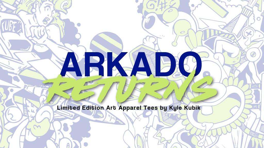ARKADO RETURNS, Vintage Arcade Inspired Limited Edition Tees