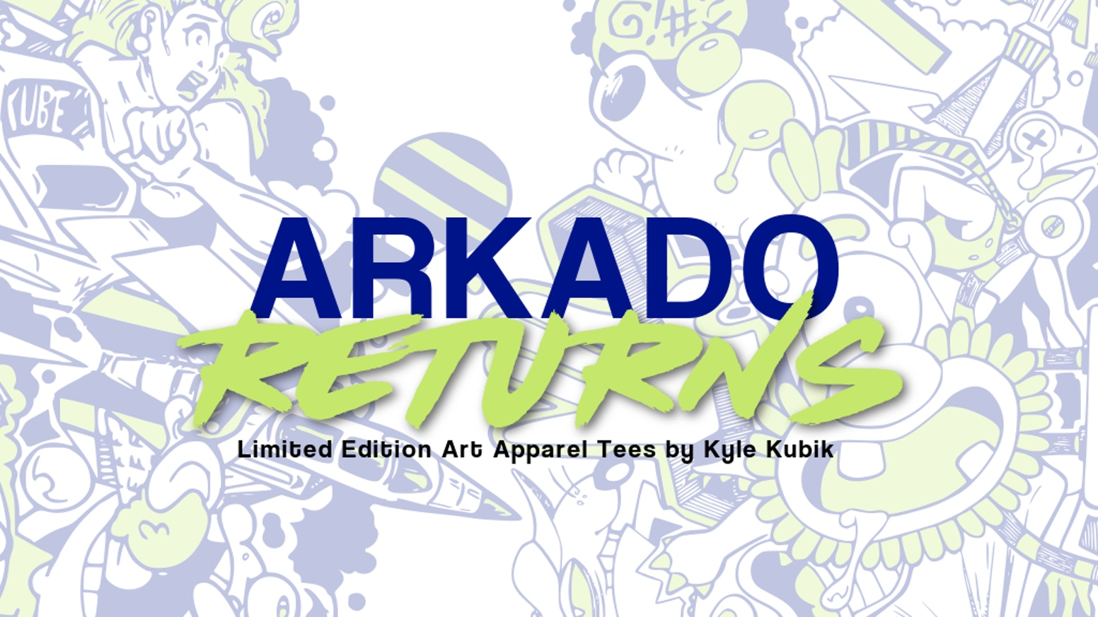 Vintage Arcade Inspired, Limited Edition Artwork Apparel Tees. ARKADO RETURNS is a follow up to the successfully funded ARKADO tee.
