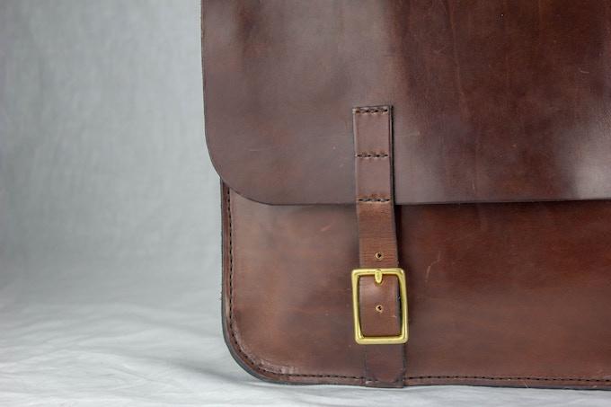 The Jefferson Laptop Attache: Stitching Detail