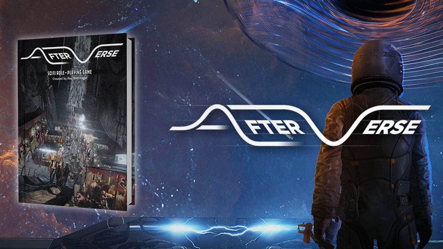 Afterverse is a scifi tabletop RPG featuring an expansive and versatile world and the D6 Bank game system.