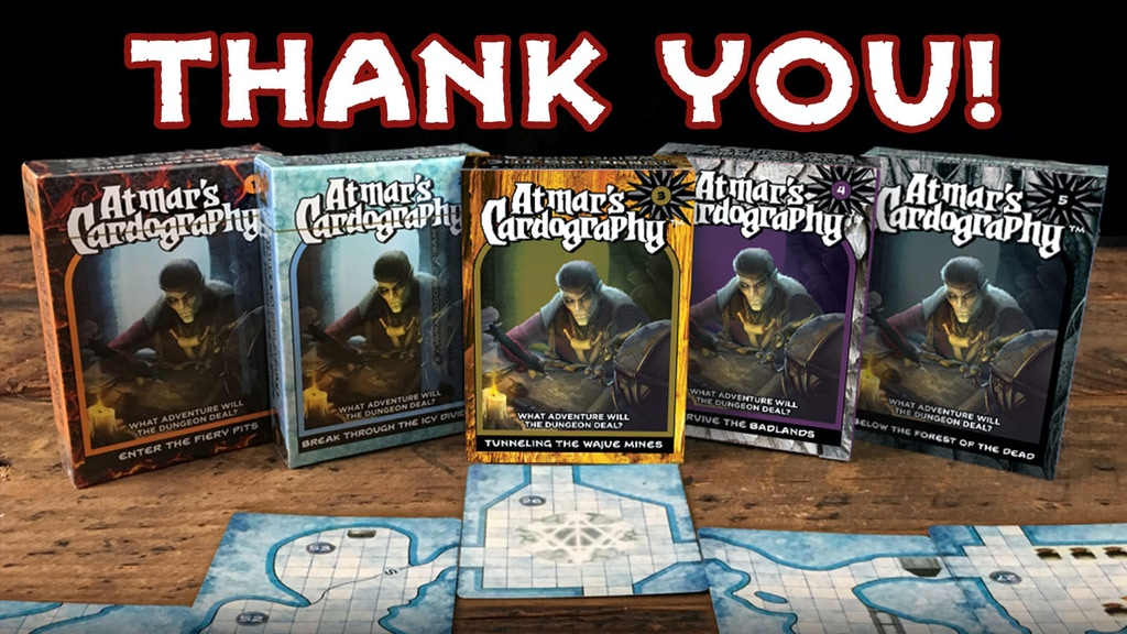 Atmar's Cardography: Full RPG Modules & Random Dungeon Decks project video thumbnail