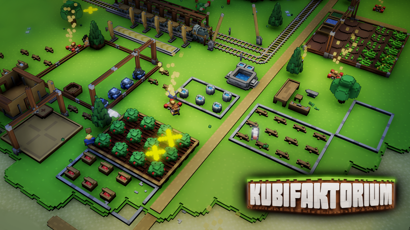 Build and manage a colony, use automation & transport systems and explore different islands in Kubifaktorium.