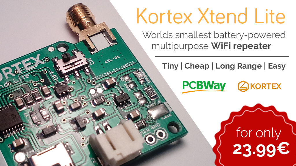 Kortex Xtend Lite | Smallest battery-powered WiFi repeater
