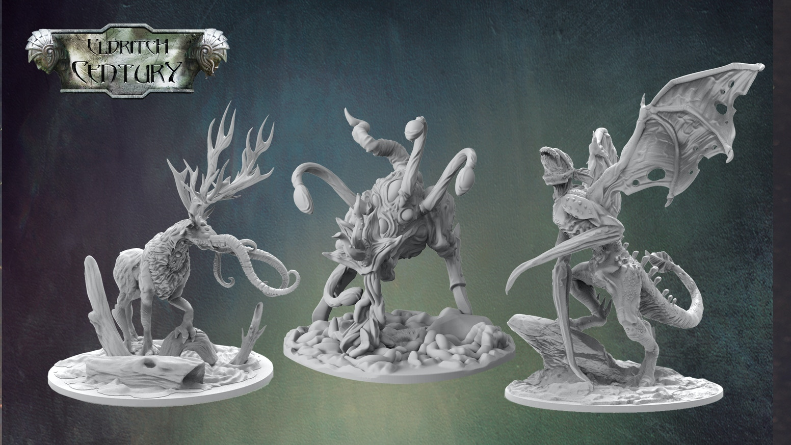 High-Quality Resin Monster Miniatures for the universe of Eldritch Century. Digital RPG content for the setting.