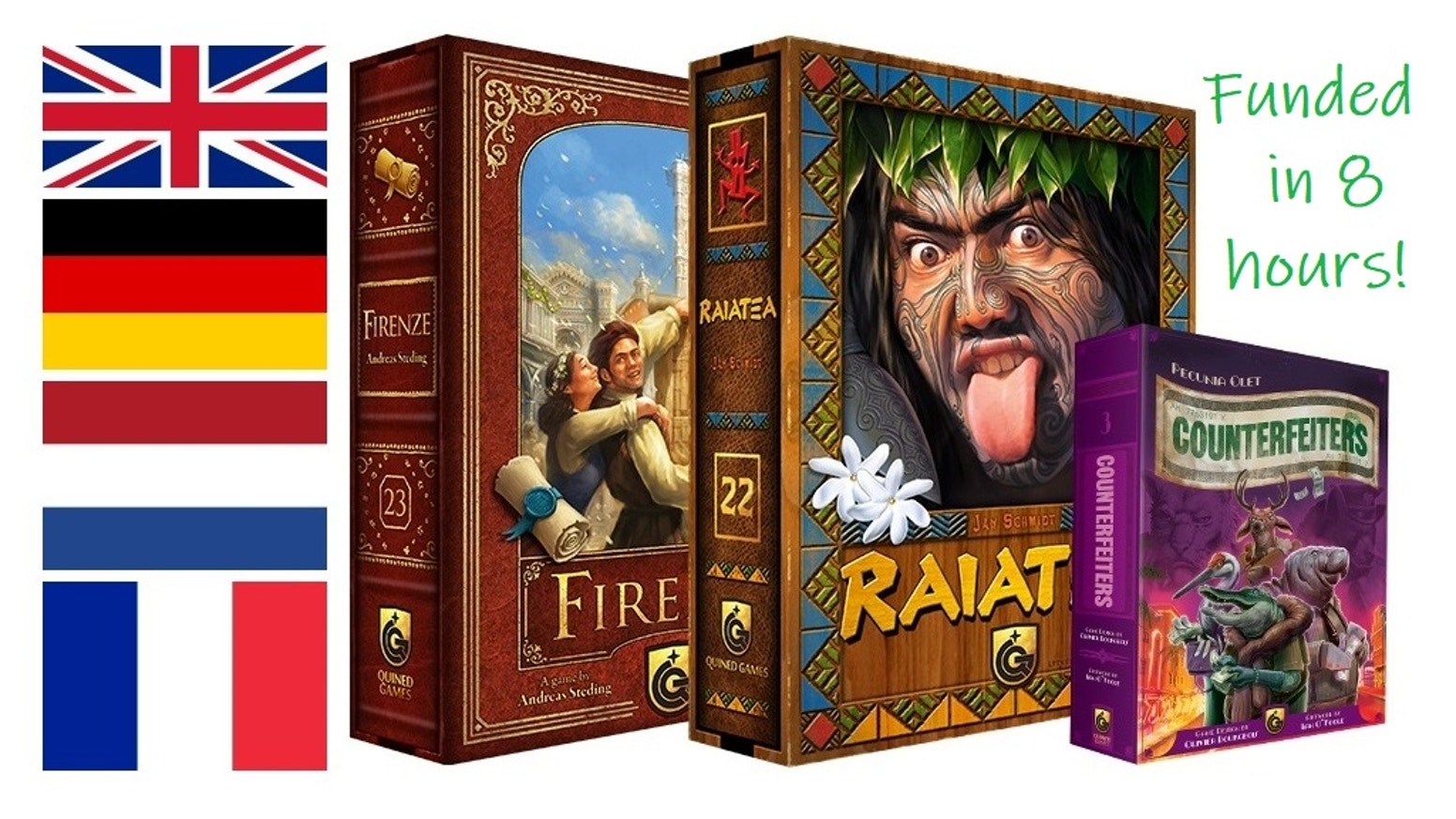Masterprint Collection 2018. These are all the new Masterprint games we are going to release at Spiel 2018.