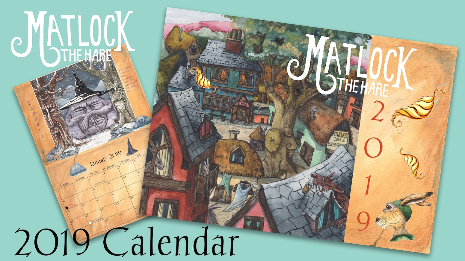 matlock the hare 2019 calendar by phil and jacqui lovesey kickstarter