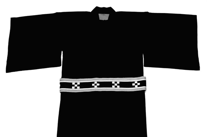 "Okinawan kimono belt design called ミンサー or ""minsaa"""