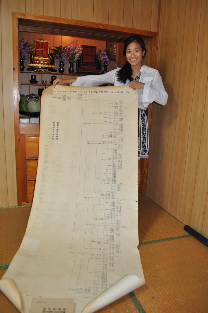 This is my Makishi family tree in Okinawa, Japan - I'm the 14th generation
