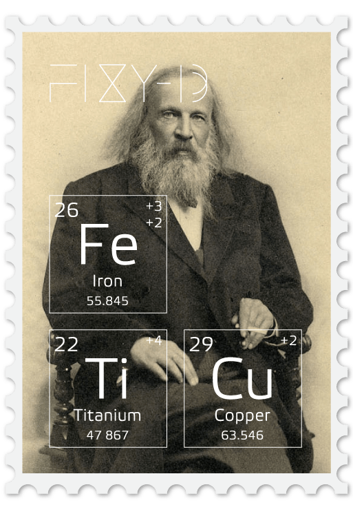 Mendeleev - the author of the periodic table of chemical elements. In 1953 he already wanted jeans.