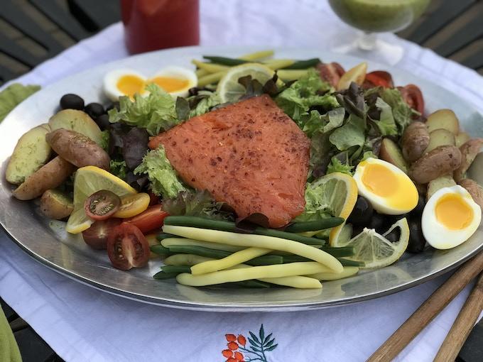 Chili & Citrus Smoked Salmon Nicoise Salad