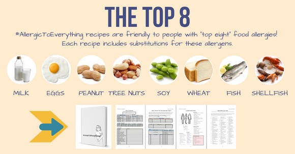 "Every recipe includes substitutions and modifications for the ""top eight"" food allergens!"