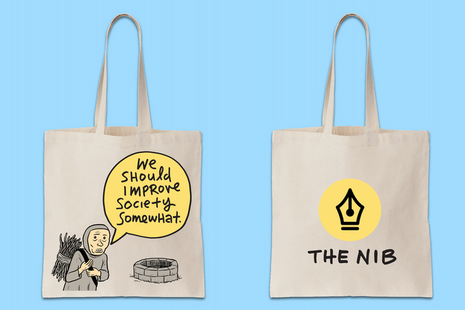 Improve society somewhat with this tote