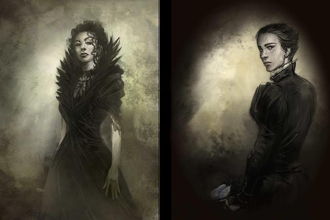 Viola & Ember - artwork by Ilich Henriquez
