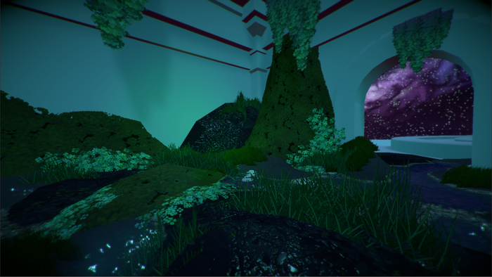 Tech Demo for placing moss, water, and plants
