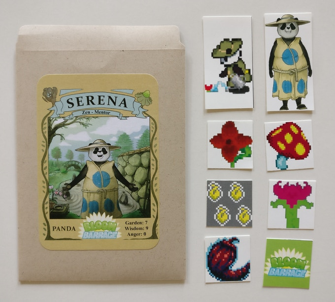 Serena the Panda collectable seed packet