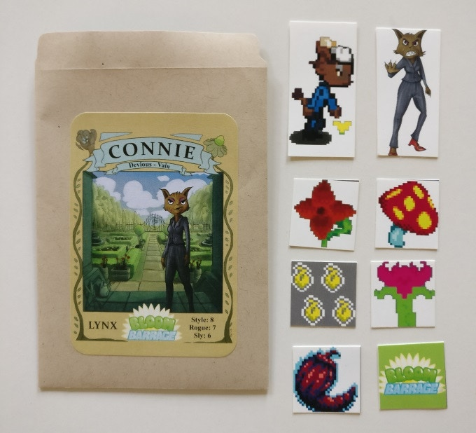 Connie the Lynx collectable seed packet