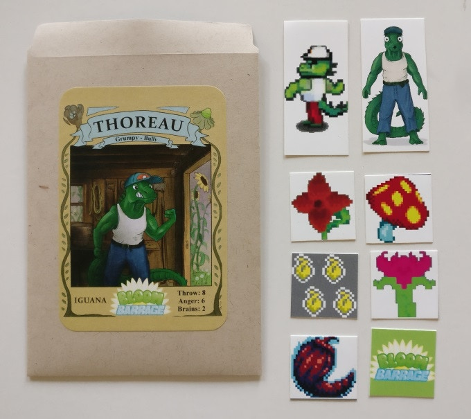 Thoreau the Iguana collectable seed packet