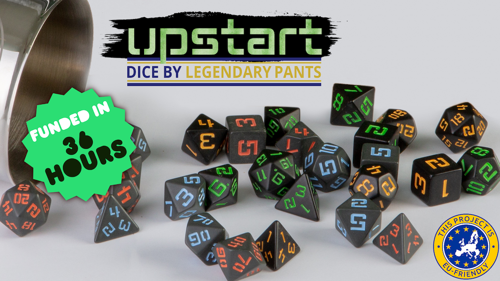 The Upstart Line - Polyhedral RPG Dice by Legendary Pants project video thumbnail