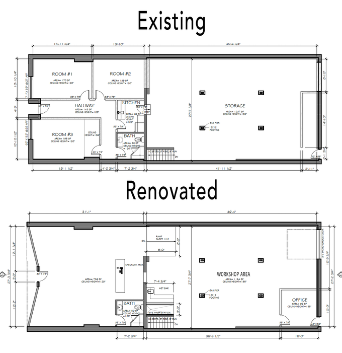 Renovated open, accessible layout