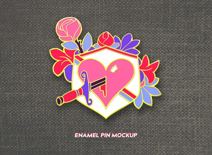 The Kickstarter-exclusive enamel pin, available in the Bae Box Set tier and above.