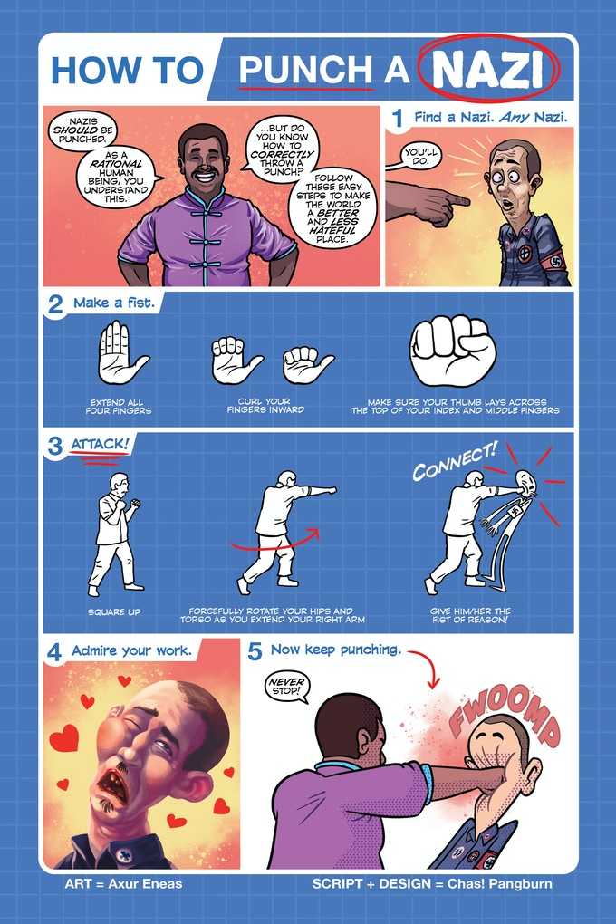 Instruction manual included in comic and as a print for all physical backers!