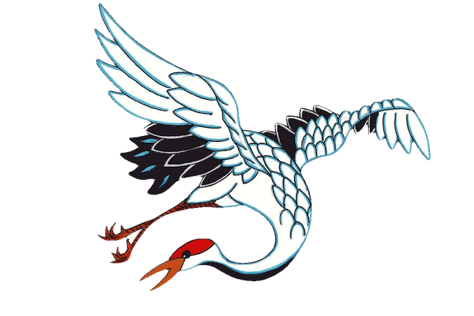 Japanese Tattoo Art Inspired Pins: Koi, Crane and Dragon by