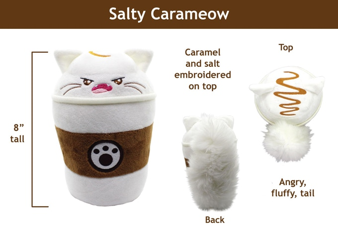 Salty Carameow, one bitter cat.