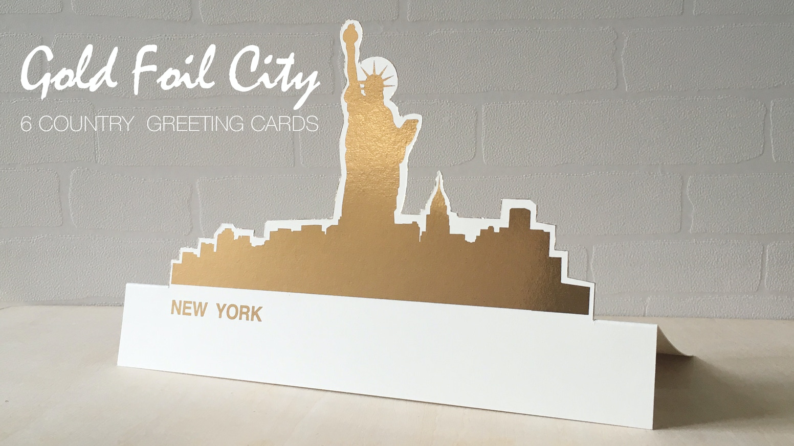 Gold Foil City Greeting Card By Timefourcircle Kickstarter