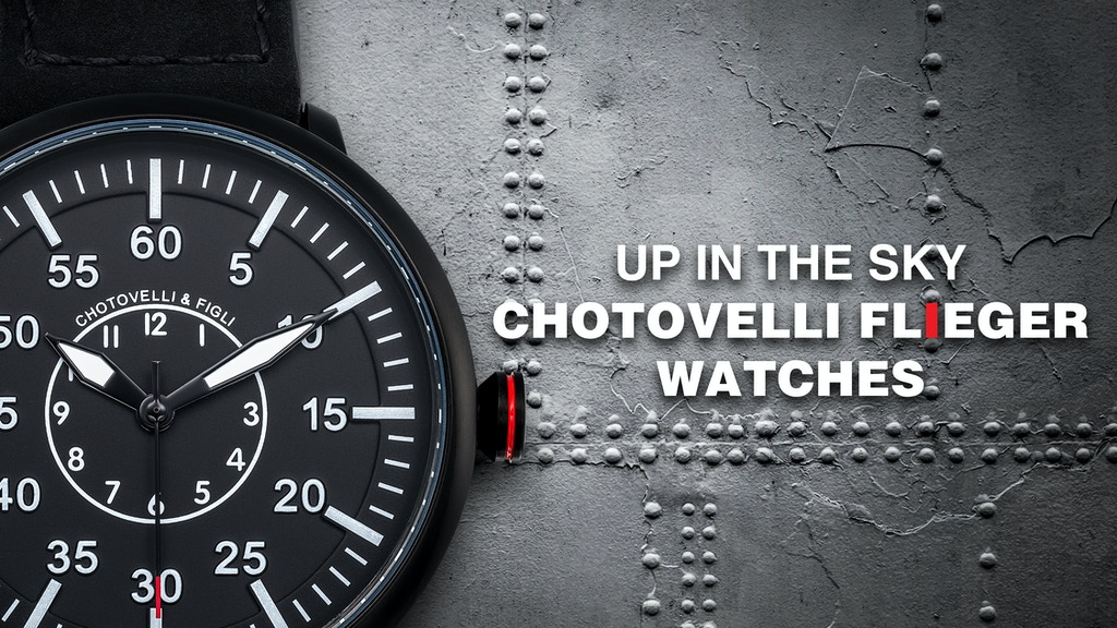 Chotovelli & Figli - Minimalist Pilot Watches project video thumbnail