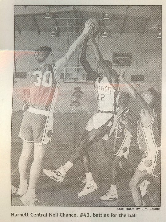 The director blocking a shot during his junior year of high school.