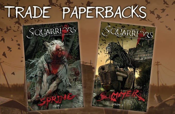 Squarriors Volume 1 and Volume 2 collected into their on trade paperbacks!