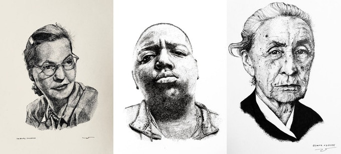 Examples of portraiture by Zachary Schomburg.