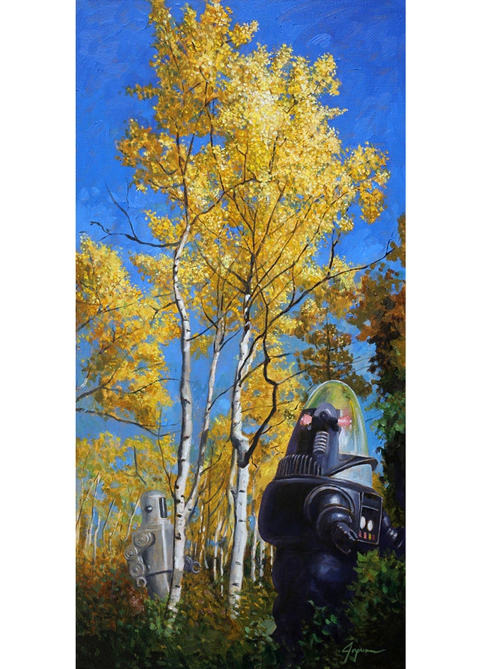 """Aspens"" limited-edition canvas print"