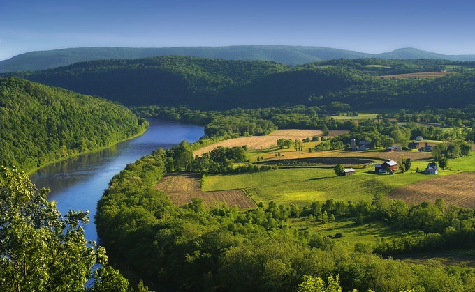 Susquehanna River: Just a Few Miles from Our Tannery *(I'm not being too dramatic. The differences are that stark.)