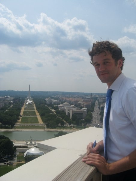 That's me: On top of the Capitol Dome
