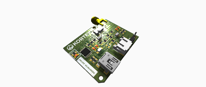 3D View of the assembled board