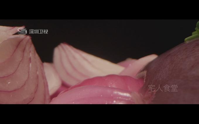 Studio Shooting on onion © Shenzhen TV