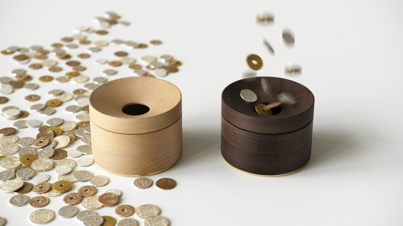 Help you organize coins in the most effortless way. Floating Magnetized lid creates the most playable and addicting open experience!