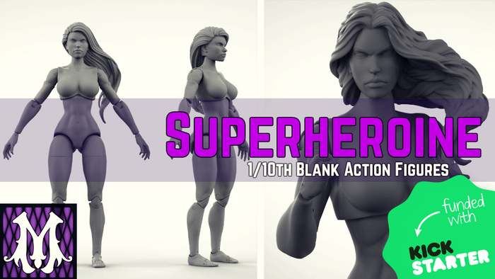 superheroine 1 10th scale 7 inch action figure blanks by maven