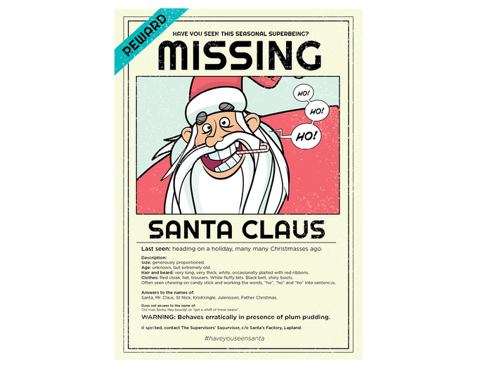 Have you seen this man? #SantaisMissing