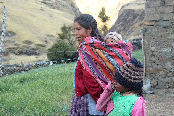 The population in the Andes are beautiful, colorfull and brave people