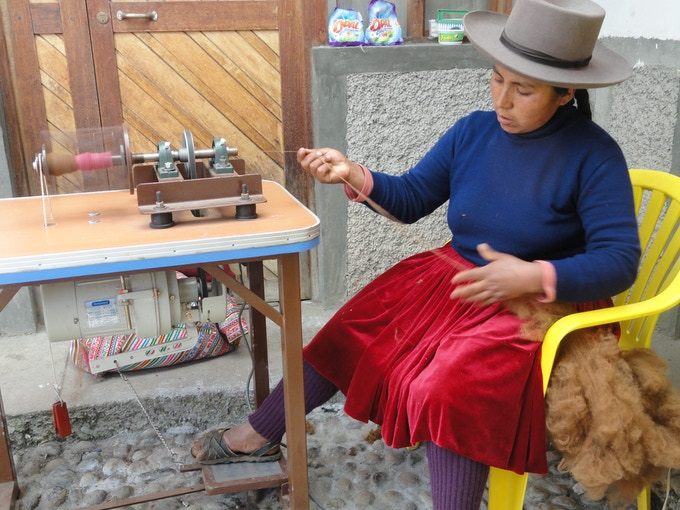 Handspinning has been a craft for generations among alpaca breeders