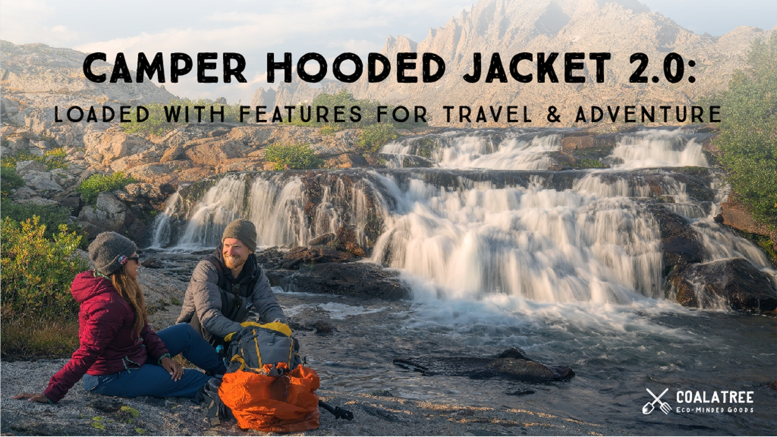 "A ""Mountain to City""puffy jacket that's packable, lightweight, and eco-friendly, with headphone port, glove pockets, and more."