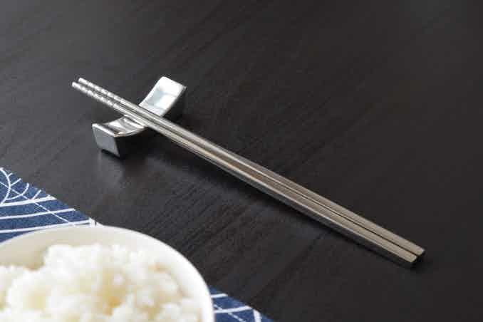 Solid 100% Titanium chopsticks with simple, elegant design.