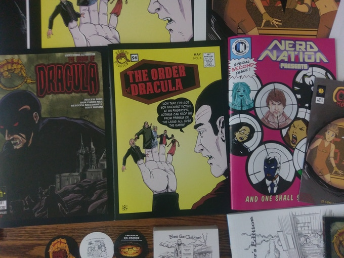 Order of Dracula (both covers) and Nerd Nation Presents # 2 comics